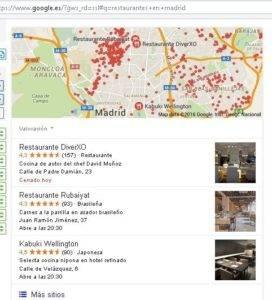 resultados busqueda local google