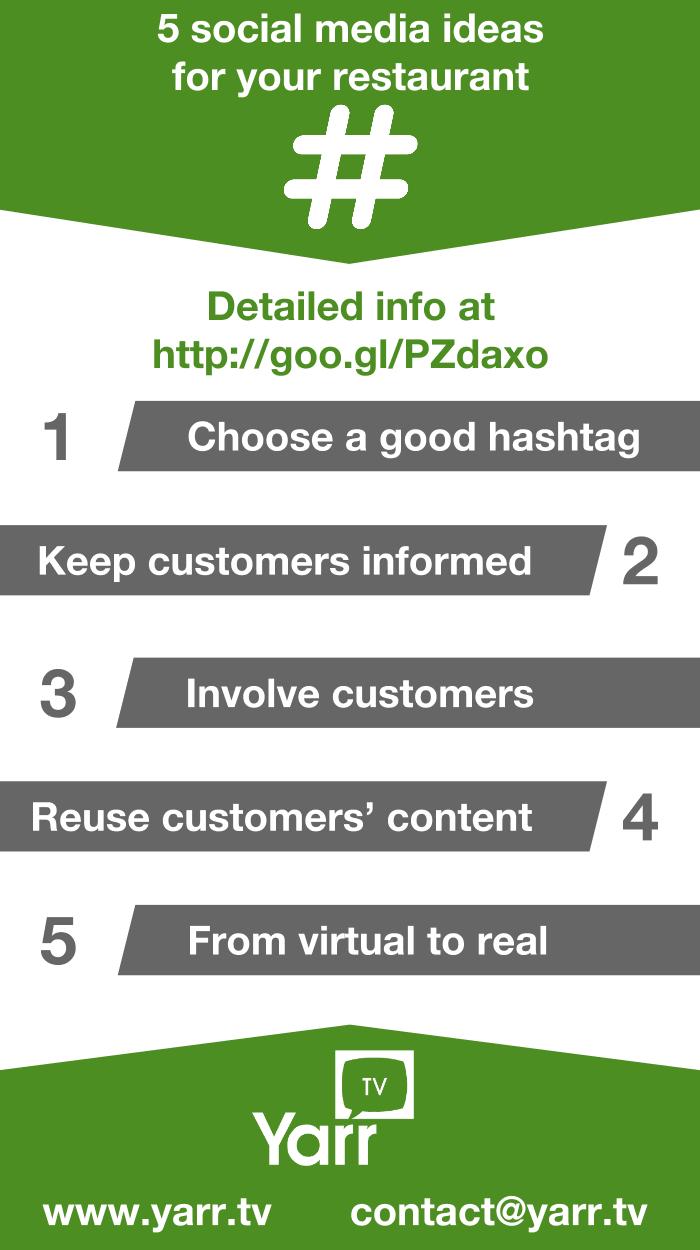 social media restaurantes infografia