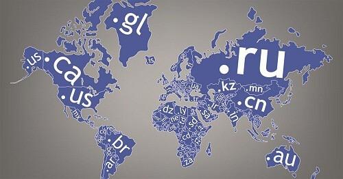 dominios por países