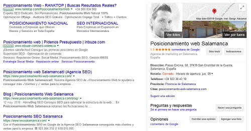 SERP Google-SEO Local