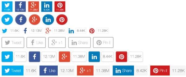 botones compartir en redes sociales