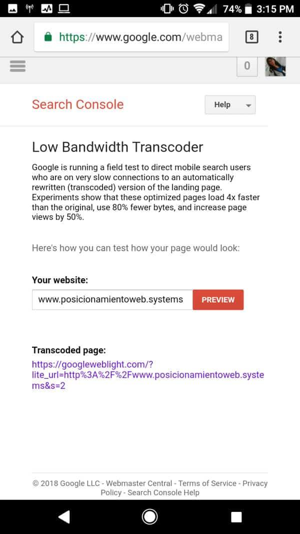 web litght ejemplo 1