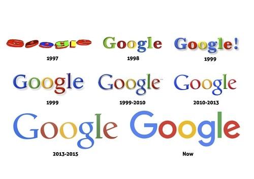 evolucion del logo de Google