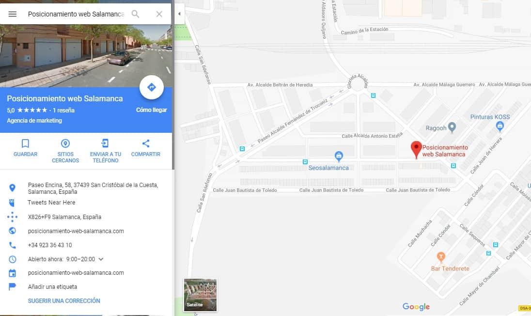 ficha de google maps