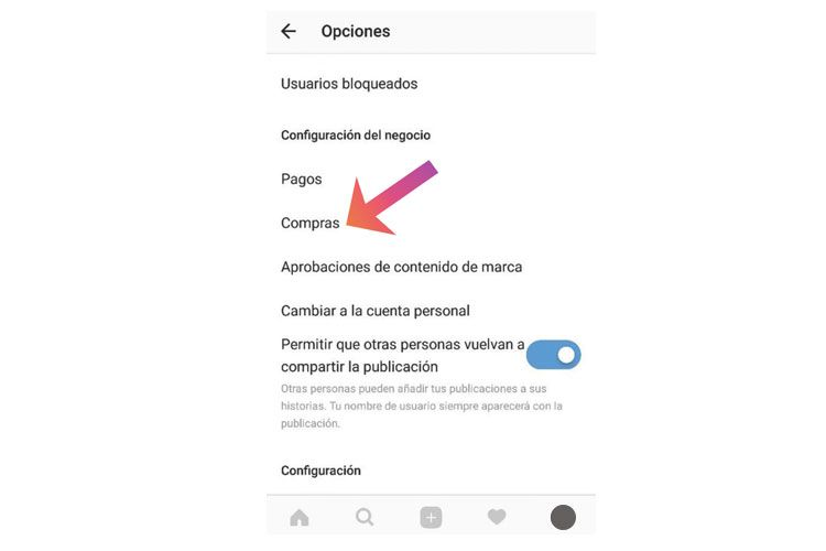 Activar Instagram Shopping
