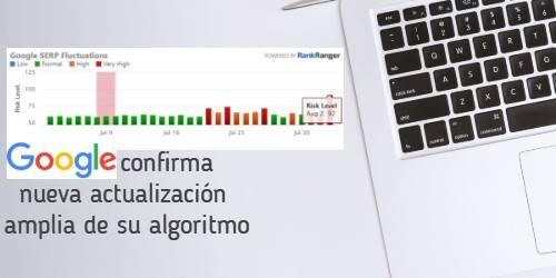 Google confirma nueva actualización amplia de su algoritmo|fluctuaciones semrush|fluctuaciones en el algoritmo pws|volatilidad serps