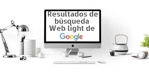 Resultados de búsqueda Web light de Google