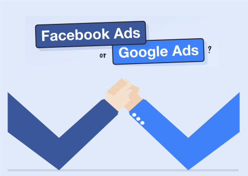 Diferencias entre Google Ads y Facebook Ads|Google Ads||Google Ads vs Facebook Ads infografia
