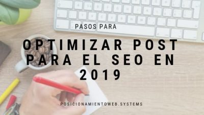optimizar post para el SEO en 2019warming|Optimizar post para el SEO en 2019 infografia