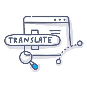 traducir el sitio web