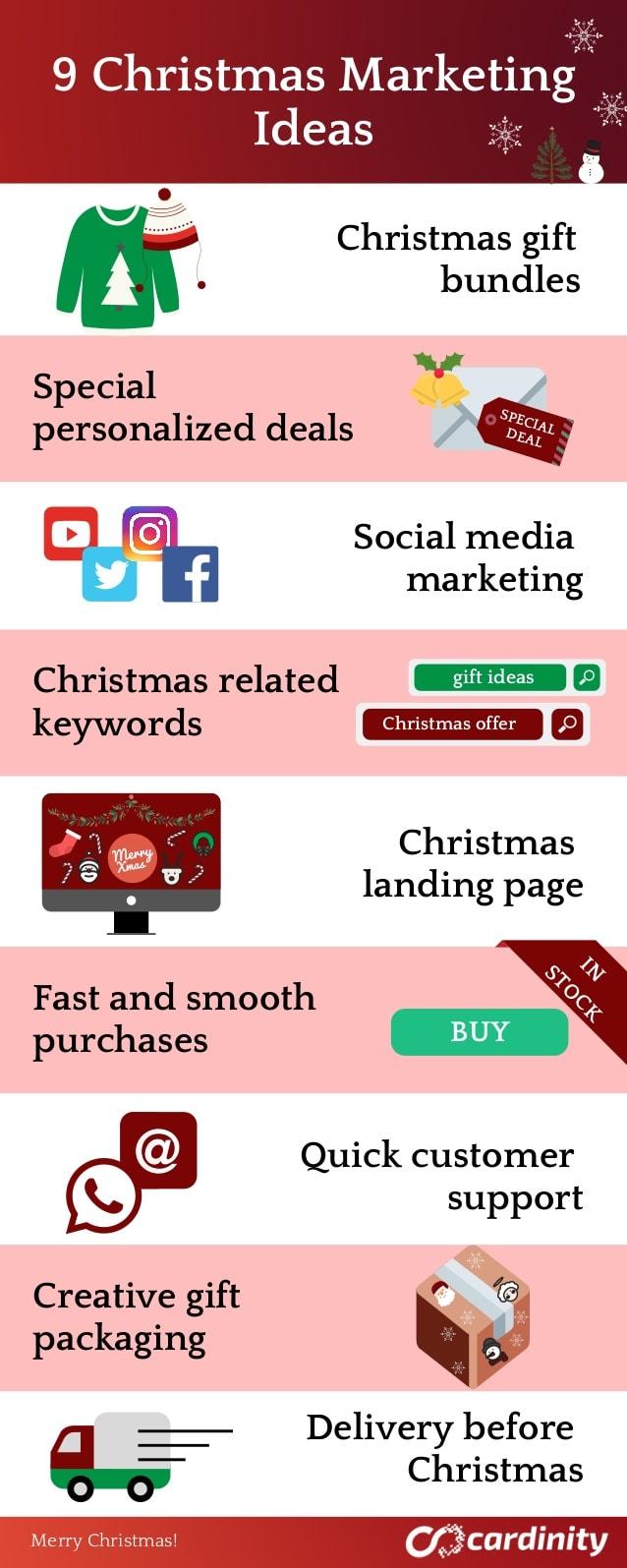 infografia ideas marketing navidad