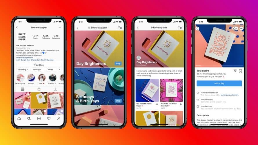 Facebook e Instagram lanzan sus tiendas online