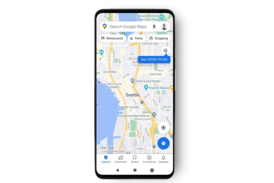 google maps capa covid