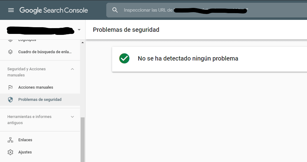 seguridad google search console
