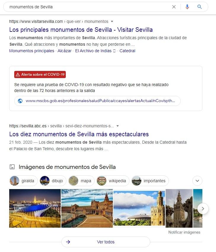 imagenes en la SERP de Google