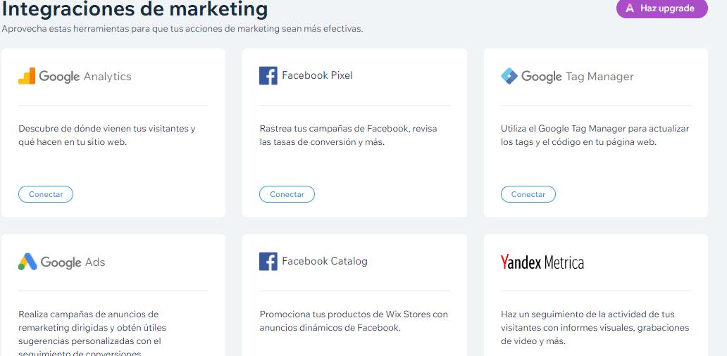 integraciones de marketing