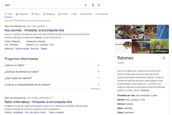 search intent ejemplo